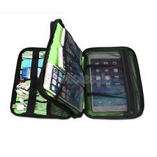 Double-layer Muti-Function Storage Carry Bag Case for USB Cable Tablet 3 Colors