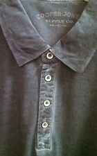 COOPER JONES Palm Spring Polo 100% Cotton Washed Pique Knit Shirt $109 NWT Black