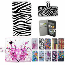 Leather Wallet Flip Cash Card Slots Holster Case Cover Stand for HTC One M7 801s