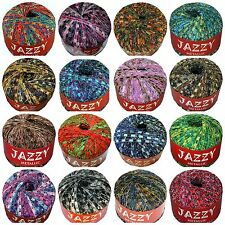 JAZZY Metallic LADDER Trellis Ribbon Yarn GLITZ - YOUR COLOR CHOICE
