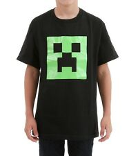 Boys Minecraft Creeper Glow in the Dark Face T-Shirt