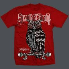 Steadfast Brand Perched Owl Red Tee Shirt