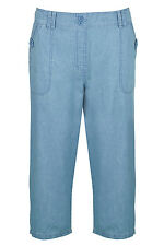 Bonmarche Womens Cargo Cropped Trousers Blue Up To Size 24
