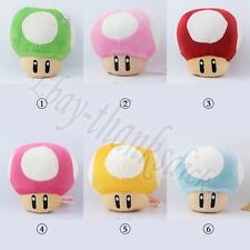 JP Anime Game Super Mario Mushroom 11cm/4.4'' Suction Soft Plush Doll Toy