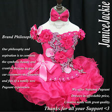 National Pageant Dress Glitz Cupcake Berry Pink 1-2, 3-4, 5-7, 8-10T