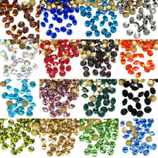 1440pcs Top Quality Pointed Gold Foiled Back Czech Glass Crystal Rhinestones