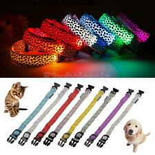 Range Leopard LED Collar Pet Dog Puppy Cat Light Night Flash Safety Your CHOICE