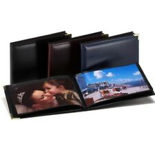 Leatherette Black Mini 6x4 Slip In Photo Album - 36 Photos-APL130 BLACK