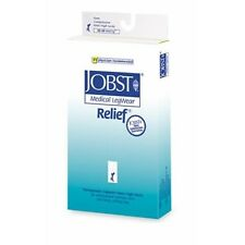 Jobst Relief 20-30 Compression Knee High W Silicone Open Toe Beige Stockings