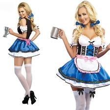 Women Sexy Oktoberfest Beautiful Beer Girl Costume German Bavarian Fancy Dress