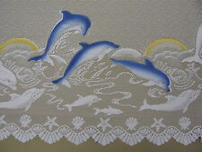 LACE CURTAIN DOLPHIN PRINT  4 Different Lengths - Selling Per mt