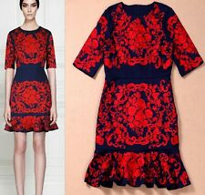 Fashion 2016 runway style high-end embroidery dress S M L XL