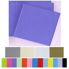 120mm Square Invitation Cards 20 Bifold Smooth Flat and Metallic variations  New