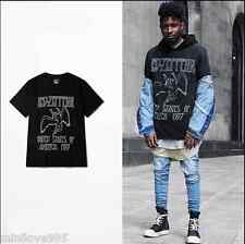 Unisex Hiphop LA Street Kanye West Justin Bieber Punk Rock Tide T-shirt