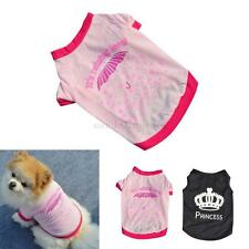 Small Pet Dog Apparel Vest Puppy Cat Coat Clothes T-shirt Summer Vest Shirt XS-L
