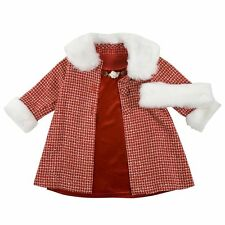 3 Piece Girls Set Dress + Coat + Headband Boucle Set Youngland RED Sz 5 & 6 NEW