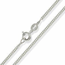 """925 STERLING SILVER 16"""" 18"""" 20"""" FINE CURB CHAIN LINK NECKLACE PENDANT CHAIN"""