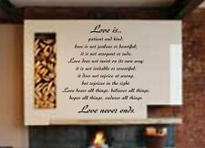 Wall Decal Sticker Quote Vinyl Large Love is Patient Kind Corinthians Bible R6