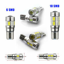 T10 501 W5W XENON White CAR SIDE Wedge LIGHTs BULBS CANBUS ERROR FREE 6 /10SMD
