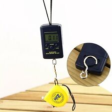 New 40Kg/10g Portable Electronic LCD Digital Hanging Luggage Weight Hook Scale ~