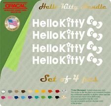 4 X Hello Kitty Logo Car Truck Motor Auto Door Bike Handle Sticker Decal Decor