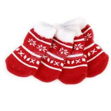 Snowflake Pet Dog Puppy Cat Shoes Non-Slip Socks with Cute Paw Prints S M L XL