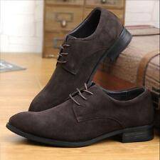 Mens Oxford Suede Leather Formal Office Dress Lace Up Casual Shoes US Size 5-11