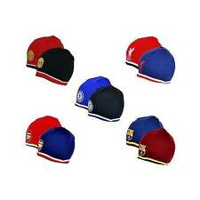Football Team OFFICIAL Reversible Beanie Hats - Knitted Woolly Gift - NEW