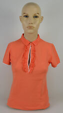 FRED PERRY MAGLIA POLO DONNA-WOMAN T-SHIRT TG.S-M-L ARANCIONE-ORANGE 31162344