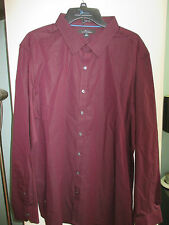 NWT Mens Button Front Shirt by Marc Anthony, Size XL or XXL, Burgundy