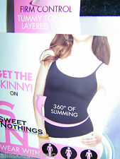 MAIDENFORM - Sweet Nothings 83966 *LAYERED TANK  Firm Control Tummy Toning * XL