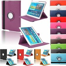 """Leather 360 Rotating Stand Case Cover For Samsung Galaxy Note 10.1"""" 10.1 inch"""
