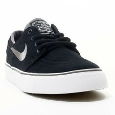 NIKE ® KIDS ZOOM STEFAN JANOSKI GS SUEDE BLACK WHITE GREY SHOES ORIGINAL * NEW