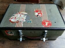 Gorgeous Vintage Chunky Revelation Suitcase Shabby Chic Storage - Display - Prop