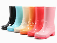 Womens rain boots high quality Lace up rainboots Shoes Sweet Candy Waterproof
