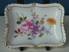 """LOVELY ROYAL CROWN DERBY """"DERBY POSIES"""" GADROON or PIN TRAY - 4"""" x 3"""" - VGC"""