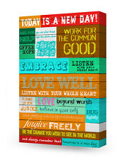 DecorArts-Today is a New Day, Inspirational Quotes Wall Art. Giclee Print