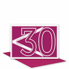Funny 30th Happy Birthday Card or 30 something card for her wife pink typography