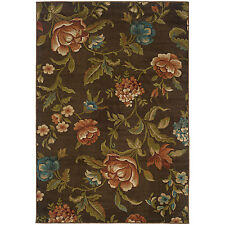 RUGS AREA RUGS CARPET FLOORING AREA RUG FLOOR DECOR FLORAL BROWN RUGS NEW
