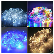 50/100/200 LED Battery Operated Clear Cable String Fairy Lights Party Wedding