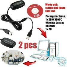 2X PC Wireless Gaming Controller USB Receiver Adapter For XBOX 360 HOT F5