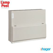 Hager VML410H - 10 Way 63A 30mA RCCB Incomer Metal Consumer Unit Amendment 3