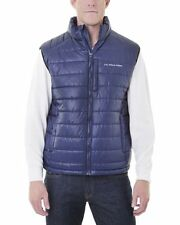 NWT U.S. POLO ASSN. SMALL CHANNEL QUILTED PUFFER VEST CLASSIC NAVY