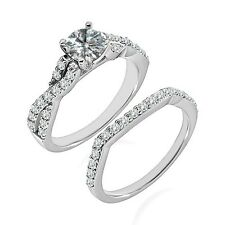 1 Carat G-H SI3-I1 Diamond Wedding Promise Solitaire Ring 14K White Gold