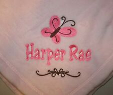 Embroidered Monogrammed Baby Blanket Extra Soft Boy or Girl 5 Colors to Choose