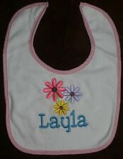 Personalized Monogrammed Bib Absorbant Terry Cloth Velcro Close Boy/Girl