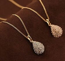 1X Charming Silver Plated Crystal Pendant Necklace Chain For Fashion Women Girls