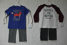 NEW CARTERS BOYS 2 PIECE SET LONG SLEEVE SHIRT PANTS OUTFIT VARIOUS STYLES