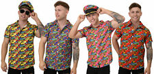 MENS HAWAIIAN SHIRT BEACH PARTY FANCY DRESS ADULT HOLIDAY TOP FUNNY STAG PARTY