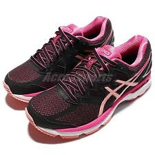 Asics GT-2000 4 D Wide IV Black Pink Womens Running Shoes Sneakers T657N-9076